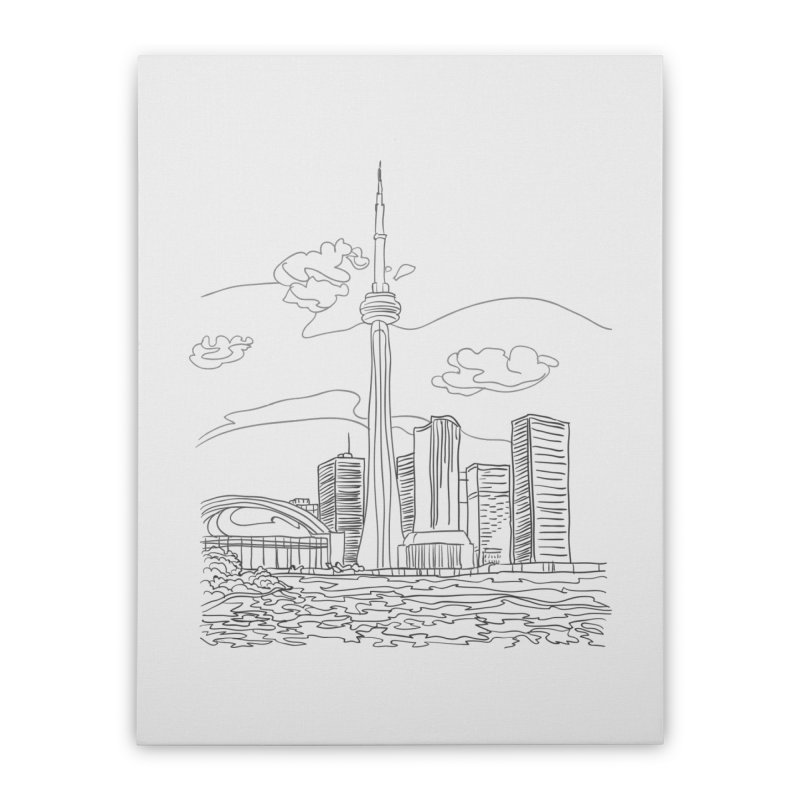 Toronto, Canada Home Stretched Canvas by LLUMA Design