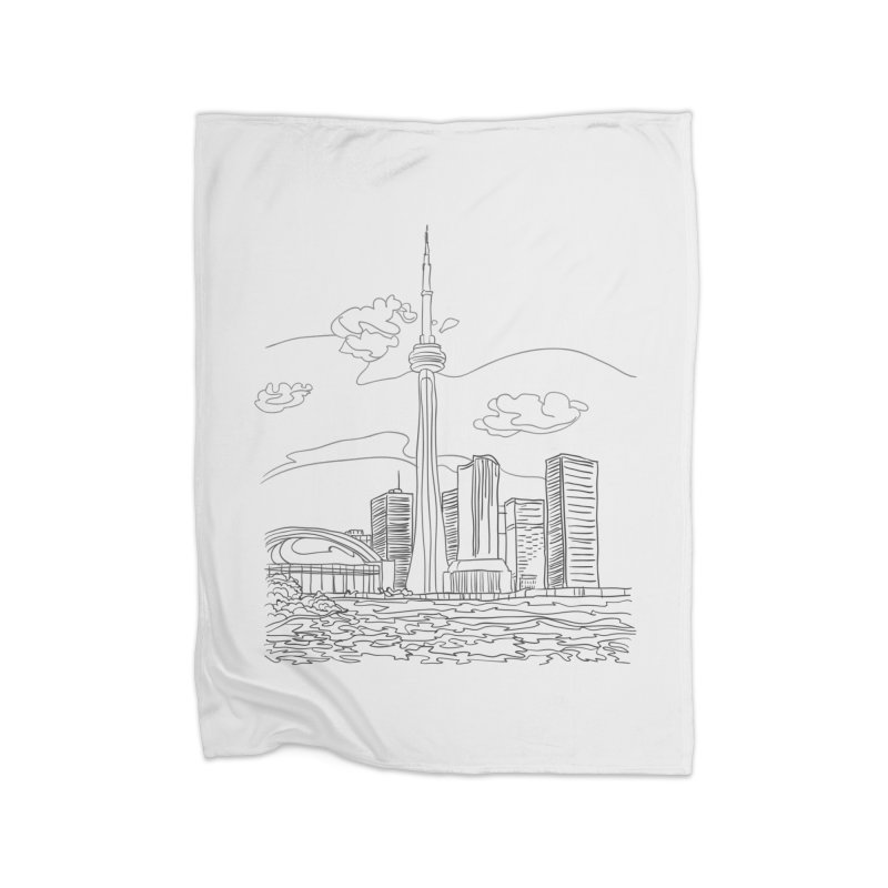 Toronto, Canada Home Blanket by LLUMA Creative Design