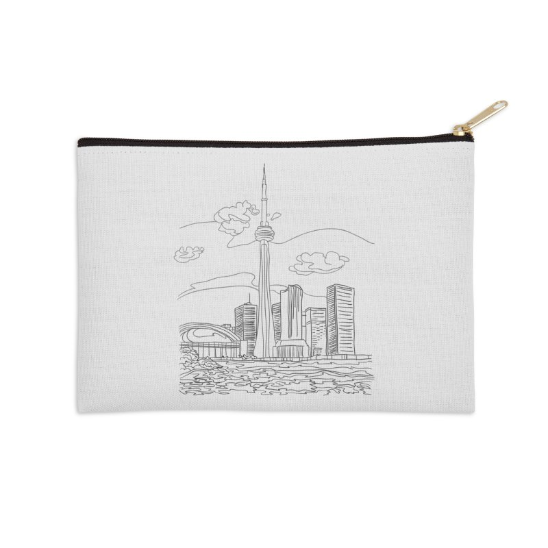 Toronto, Canada Accessories Zip Pouch by LLUMA Creative Design