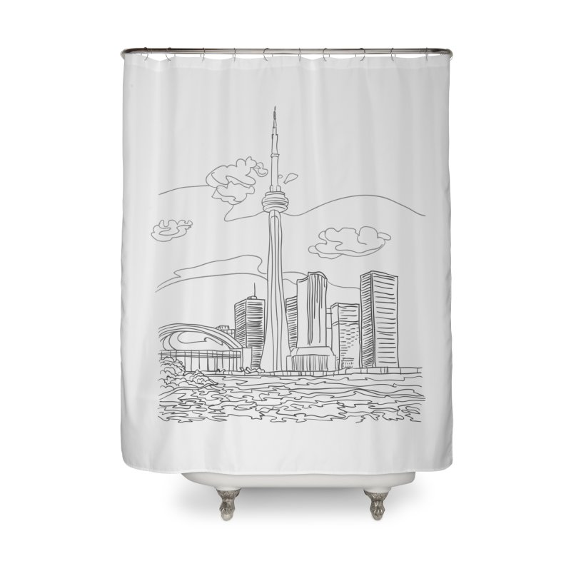 Toronto, Canada Home Shower Curtain by LLUMA Design