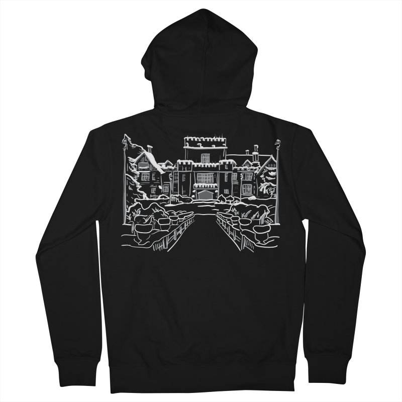 Hatley Castle, BC Men's Zip-Up Hoody by LLUMA Design