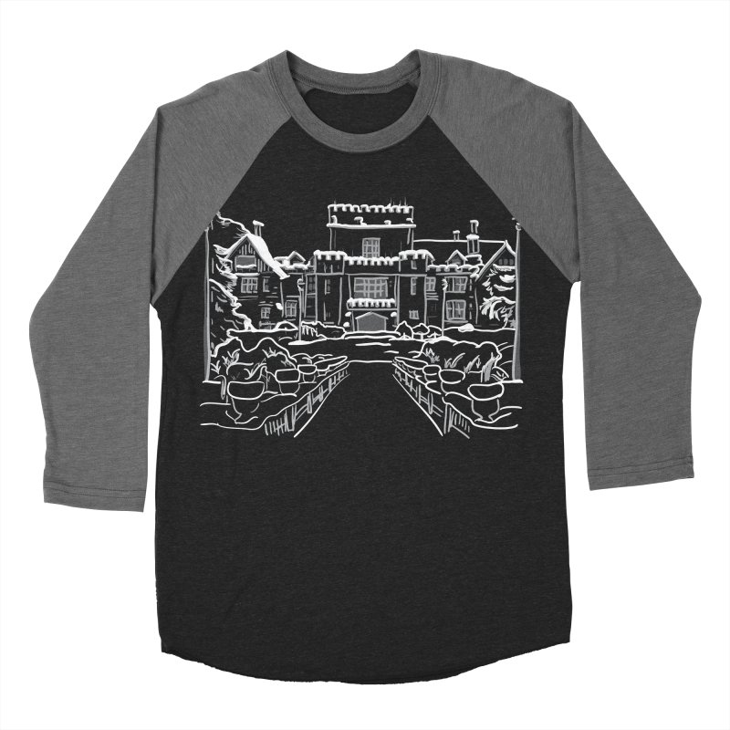 Hatley Castle, BC Men's Baseball Triblend T-Shirt by LLUMA Design