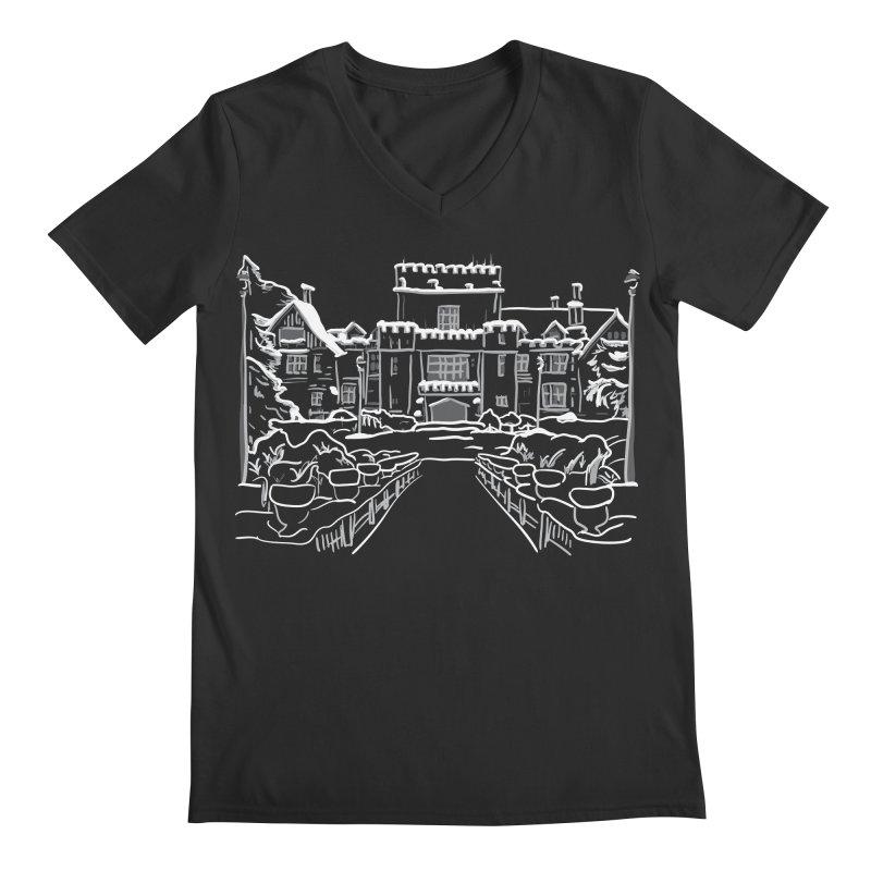 Hatley Castle, BC Men's V-Neck by LLUMA Creative Design