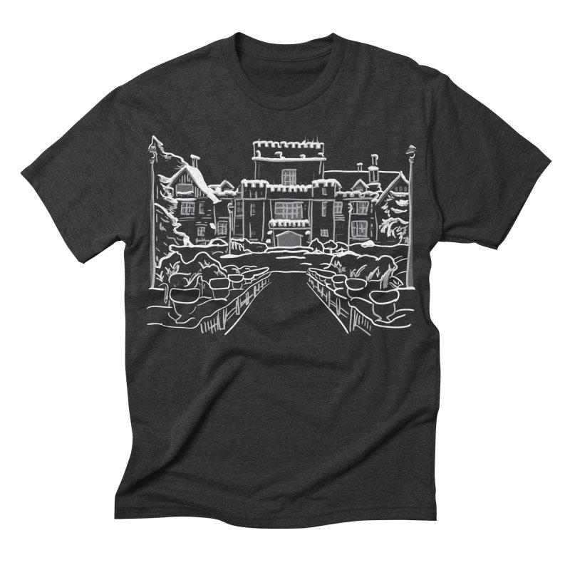 Hatley Castle, BC Men's Triblend T-shirt by LLUMA Design
