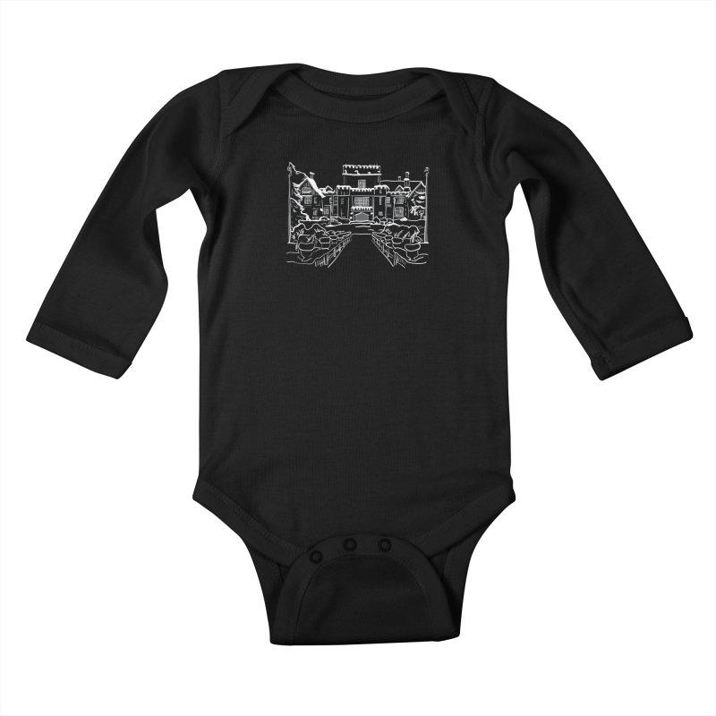 Hatley Castle, BC Kids Baby Longsleeve Bodysuit by LLUMA Design