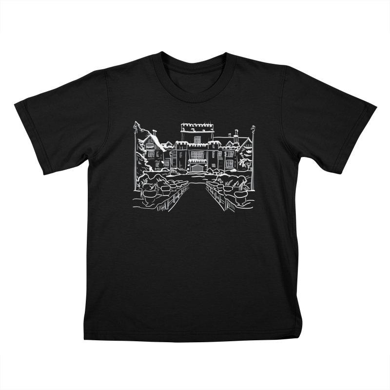 Hatley Castle, BC Kids T-Shirt by LLUMA Creative Design