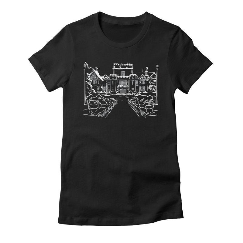 Hatley Castle, BC Women's Fitted T-Shirt by LLUMA Design