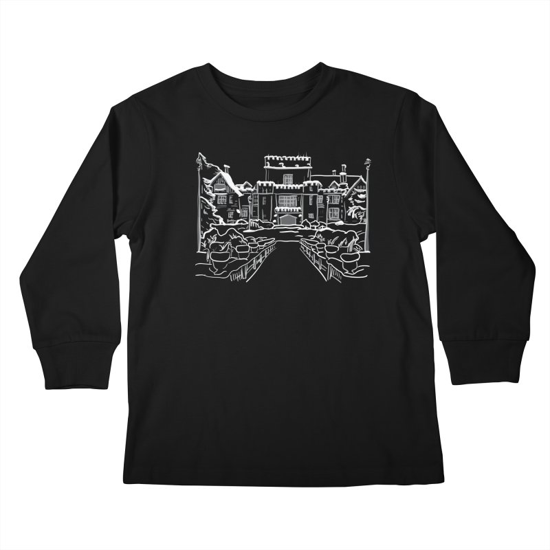 Hatley Castle, BC Kids Longsleeve T-Shirt by LLUMA Design