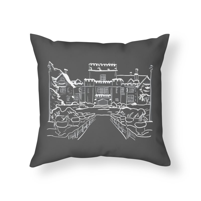 Hatley Castle, BC Home Throw Pillow by LLUMA Creative Design