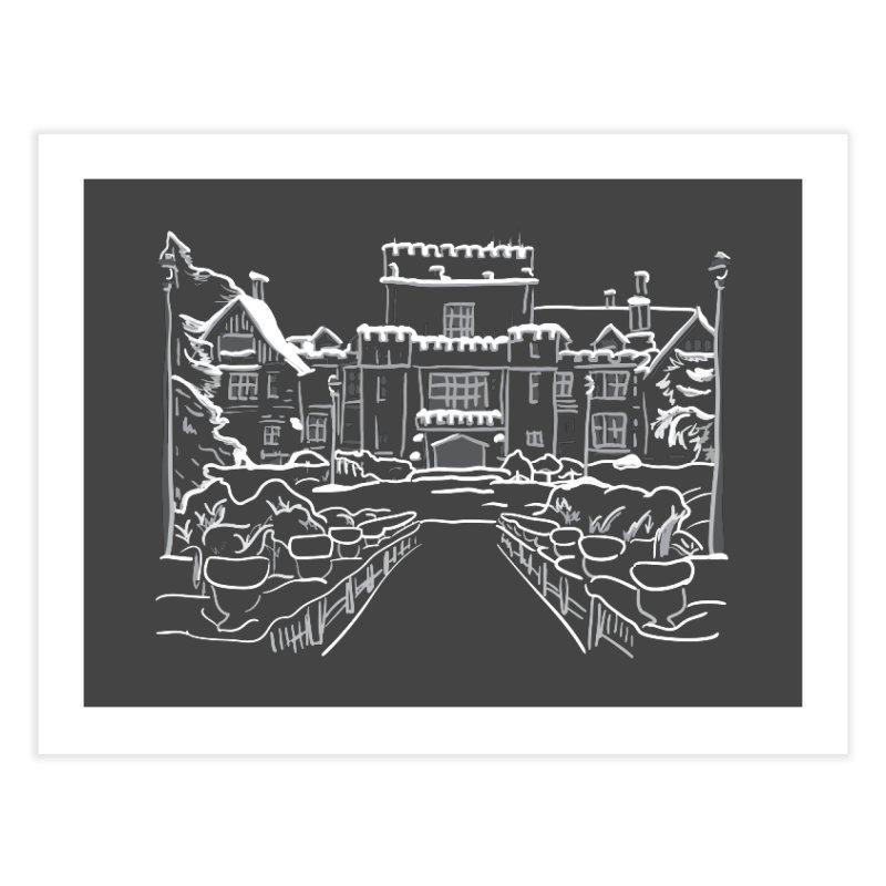Hatley Castle, BC Home Fine Art Print by LLUMA Design