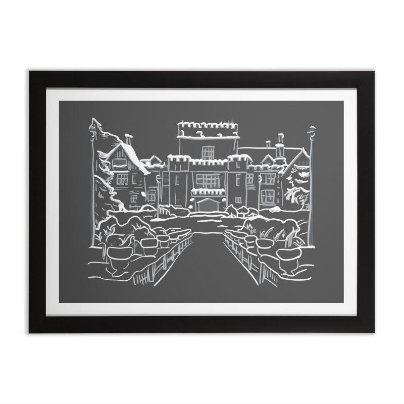 Hatley Castle, BC Home Framed Fine Art Print by LLUMA Design