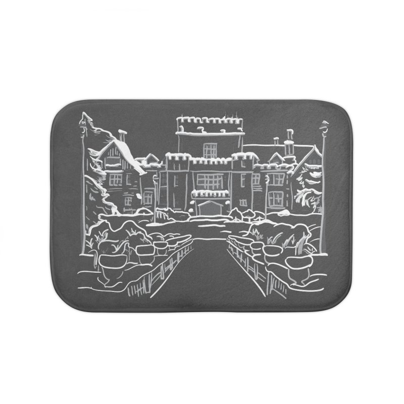 Hatley Castle, BC Home Bath Mat by LLUMA Design