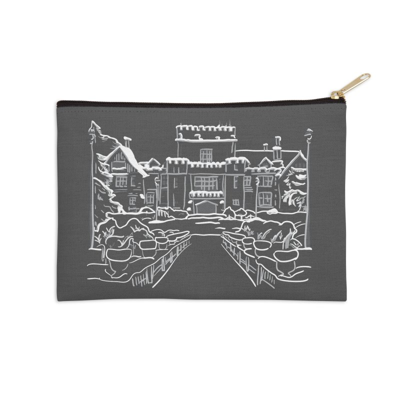 Hatley Castle, BC Accessories Zip Pouch by LLUMA Design