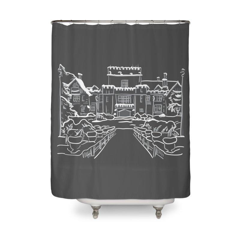 Hatley Castle, BC Home Shower Curtain by LLUMA Design
