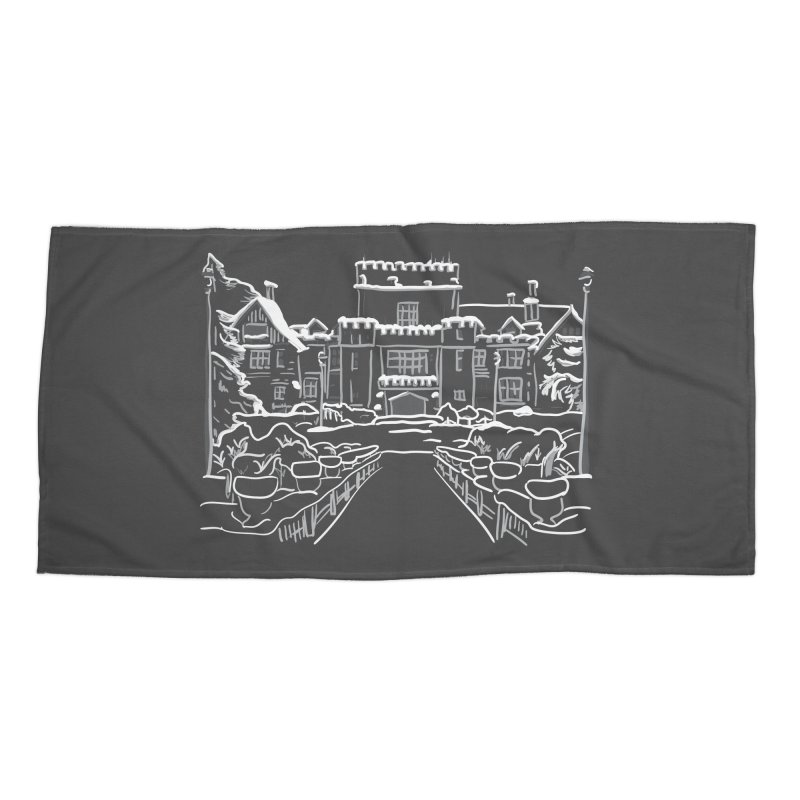 Hatley Castle, BC Accessories Beach Towel by LLUMA Creative Design