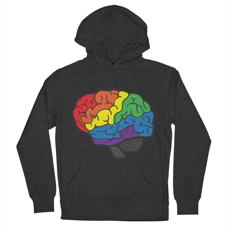 Colourful Brain Men's Pullover Hoody by LLUMA Design