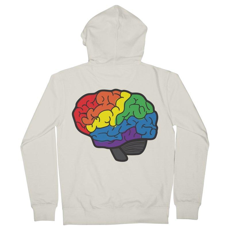 Colourful Brain Women's Zip-Up Hoody by LLUMA Design