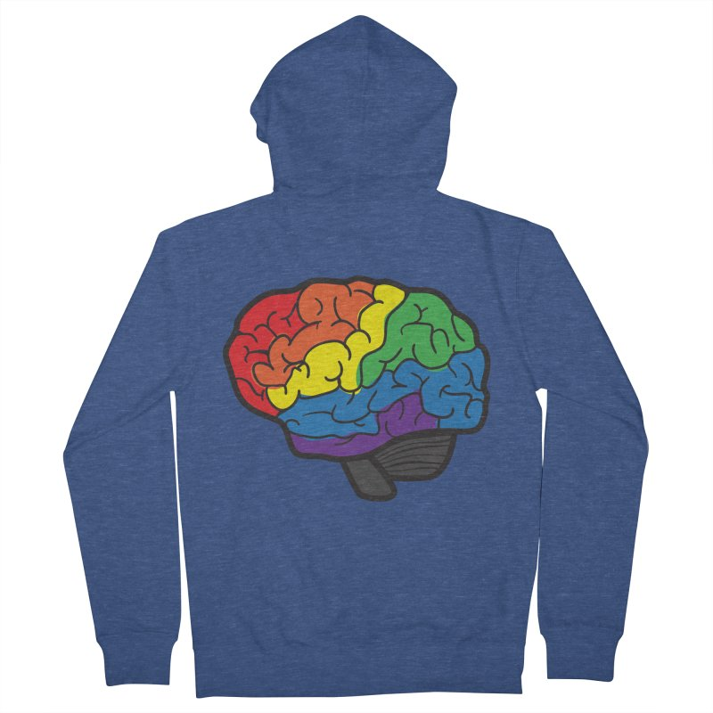 Colourful Brain Men's Zip-Up Hoody by LLUMA Design