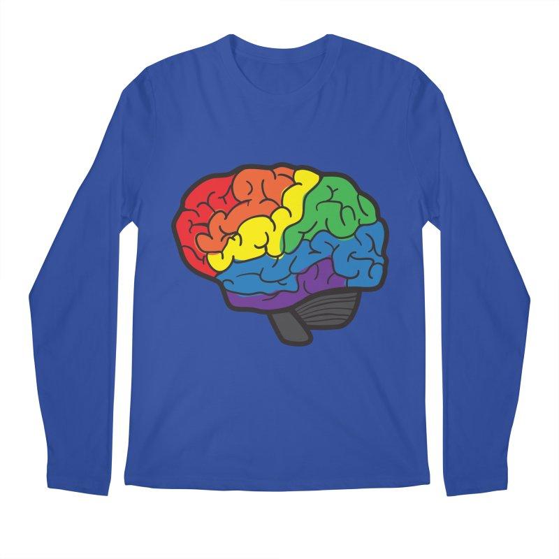 Colourful Brain Men's Longsleeve T-Shirt by LLUMA Design