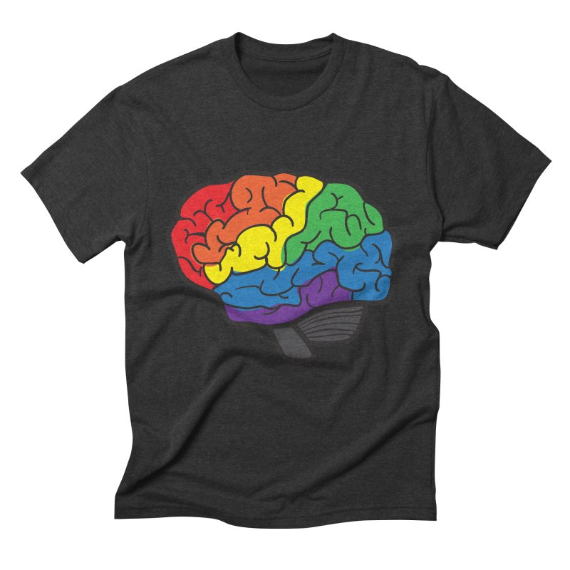 Colourful Brain Men's Triblend T-shirt by LLUMA Design