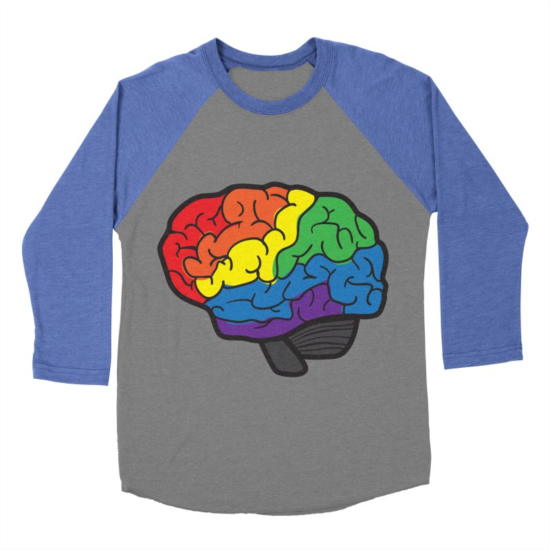 Colourful Brain Women's Baseball Triblend T-Shirt by LLUMA Design