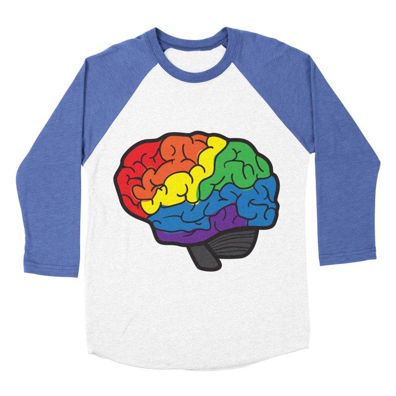 Colourful Brain Men's Baseball Triblend T-Shirt by LLUMA Design