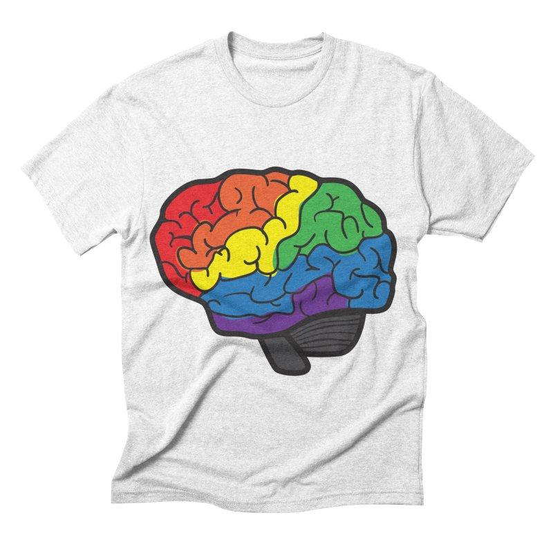 Colourful Brain Men's Triblend T-shirt by LLUMA Design