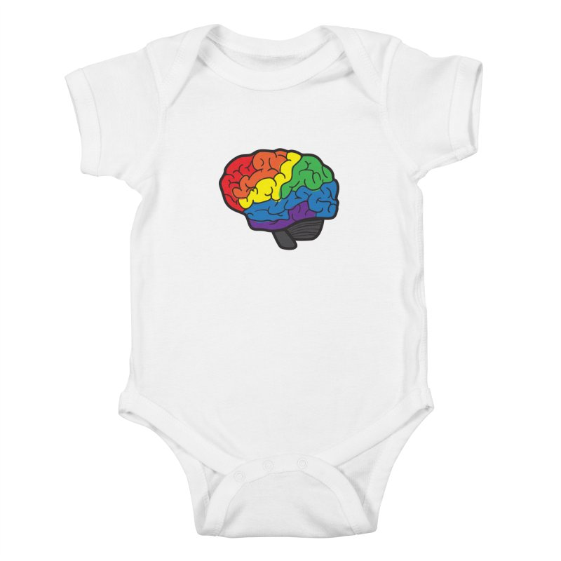 Colourful Brain Kids Baby Bodysuit by LLUMA Design