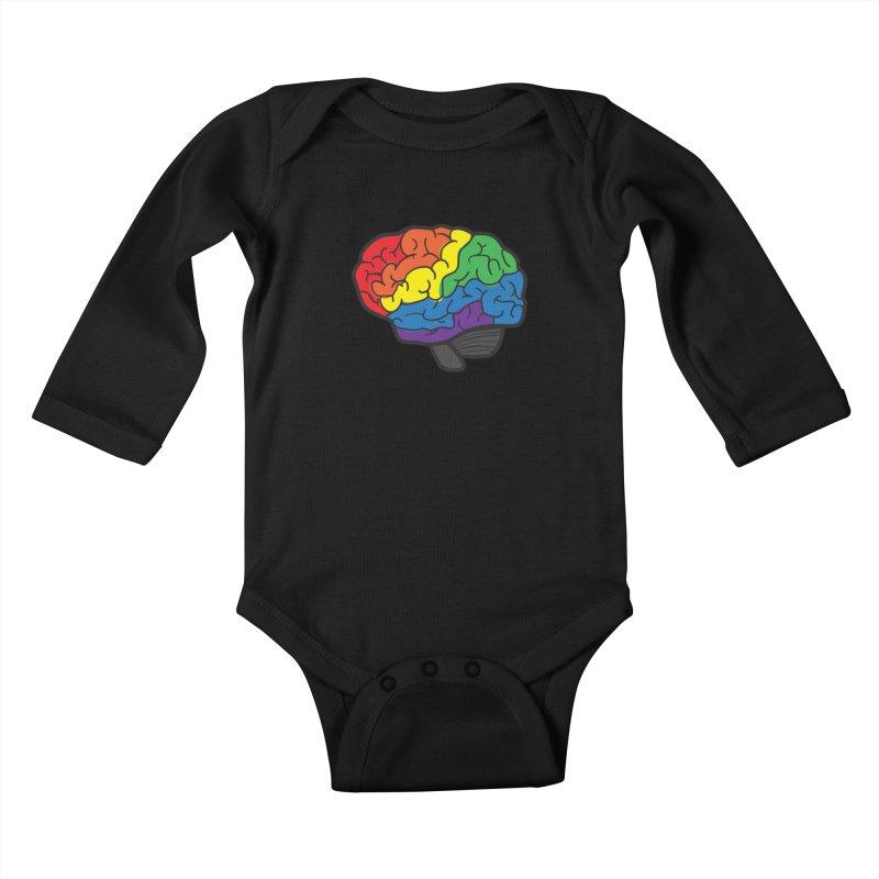 Colourful Brain Kids Baby Longsleeve Bodysuit by LLUMA Design
