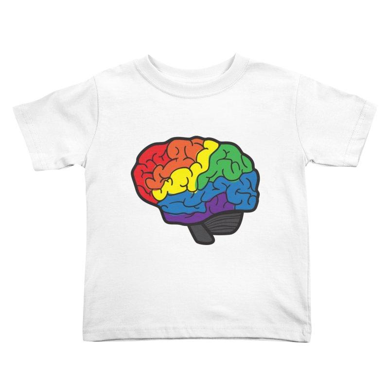 Colourful Brain Kids Toddler T-Shirt by LLUMA Design