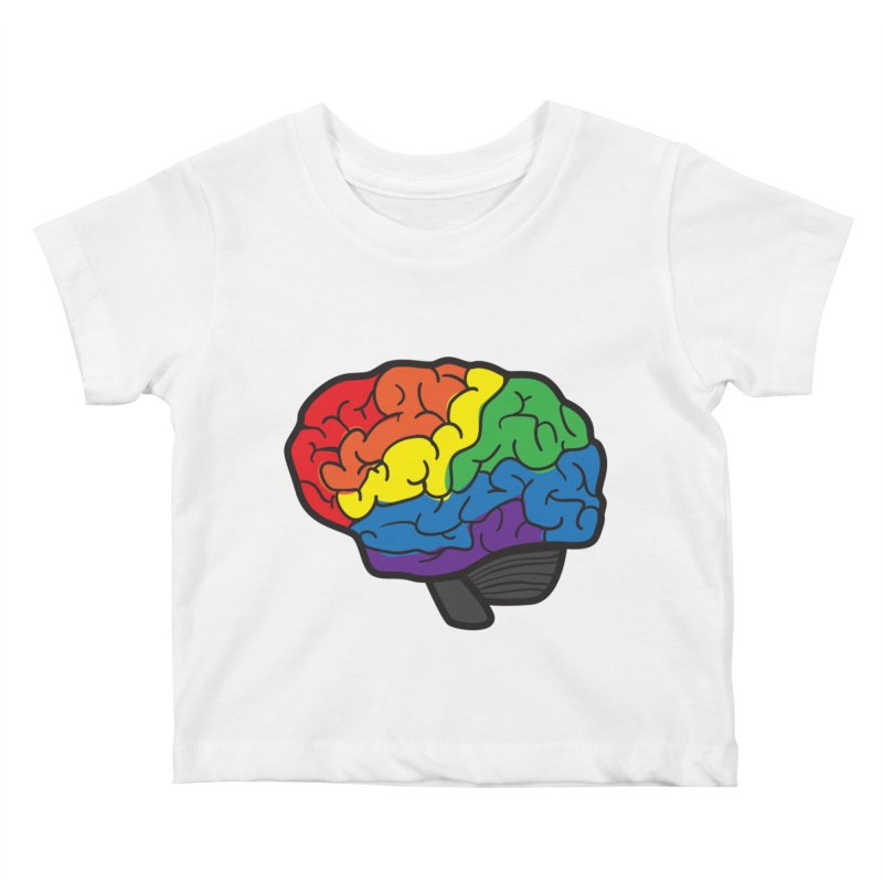 Colourful Brain Kids Baby T-Shirt by LLUMA Design