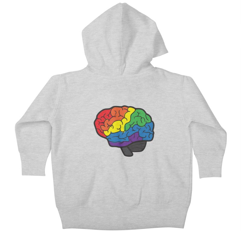 Colourful Brain Kids Baby Zip-Up Hoody by LLUMA Design