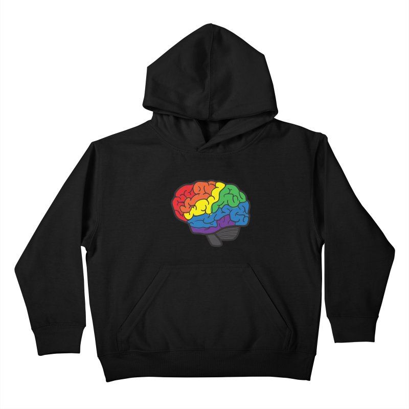 Colourful Brain Kids Pullover Hoody by LLUMA Design