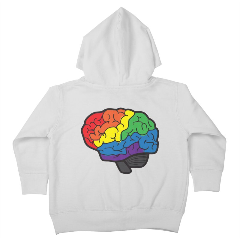 Colourful Brain Kids Toddler Zip-Up Hoody by LLUMA Design