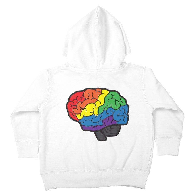 Colourful Brain Kids Toddler Zip-Up Hoody by LLUMA Design