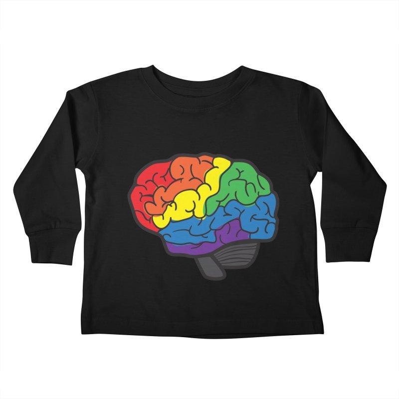 Colourful Brain Kids Toddler Longsleeve T-Shirt by LLUMA Design