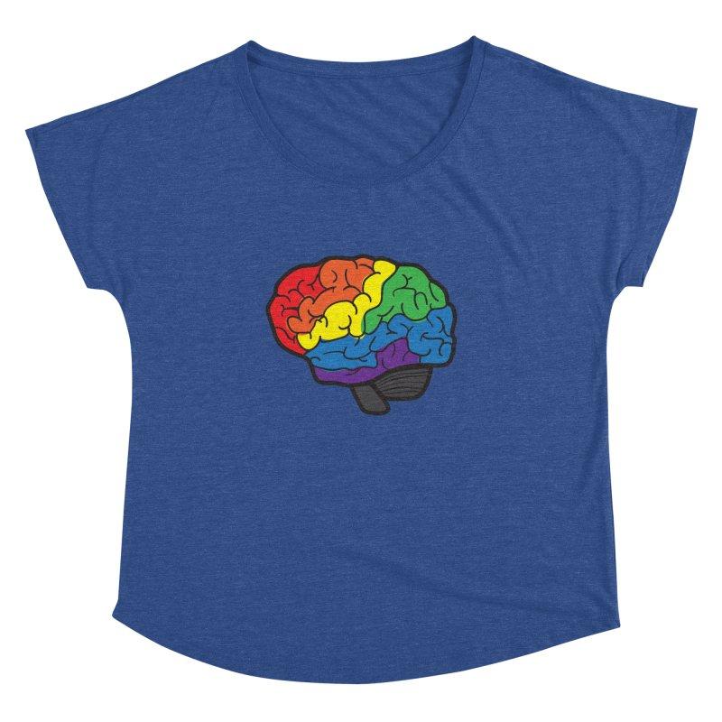 Colourful Brain Women's Dolman by LLUMA Design