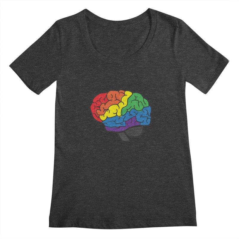 Colourful Brain Women's Scoopneck by LLUMA Design