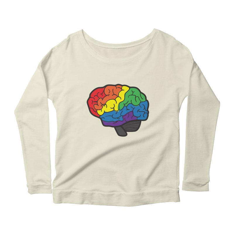 Colourful Brain Women's Longsleeve Scoopneck  by LLUMA Design