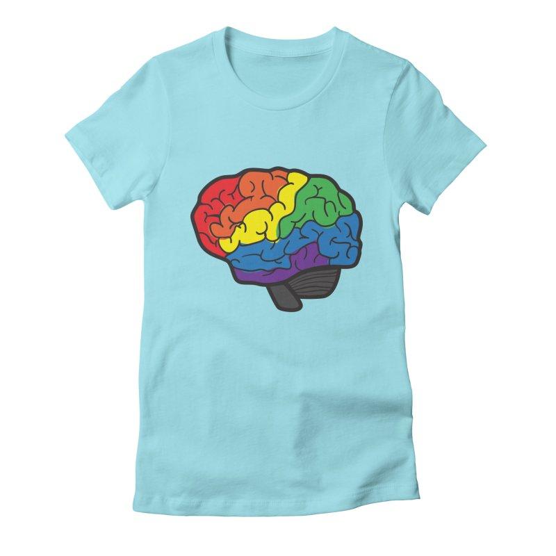 Colourful Brain Women's Fitted T-Shirt by LLUMA Design