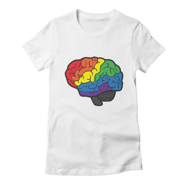 Colourful Brain Women's Fitted T-Shirt by LLUMA Design