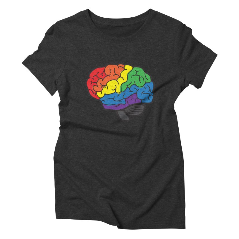 Colourful Brain Women's Triblend T-shirt by LLUMA Design