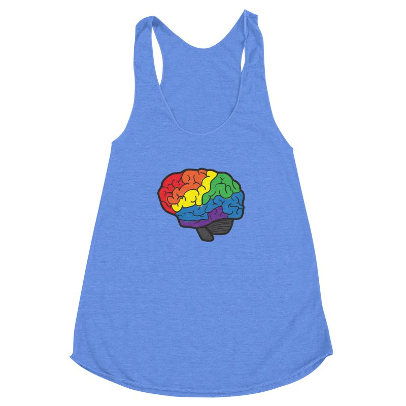 Colourful Brain Women's Racerback Triblend Tank by LLUMA Design