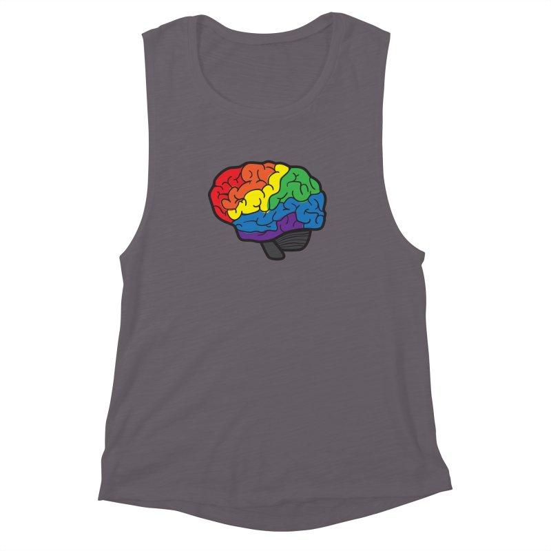 Colourful Brain Women's Muscle Tank by LLUMA Design