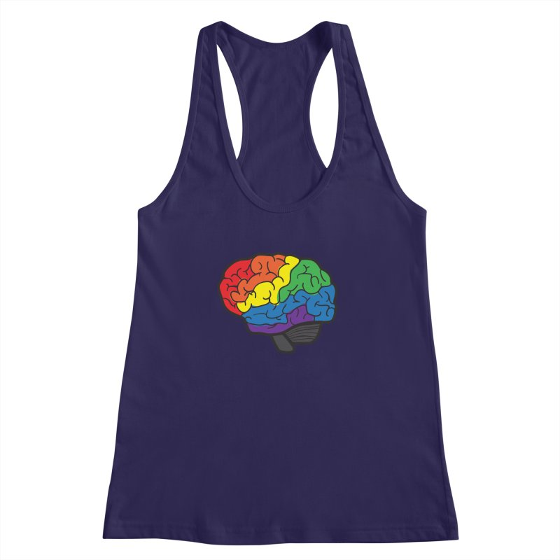 Colourful Brain Women's Racerback Tank by LLUMA Design