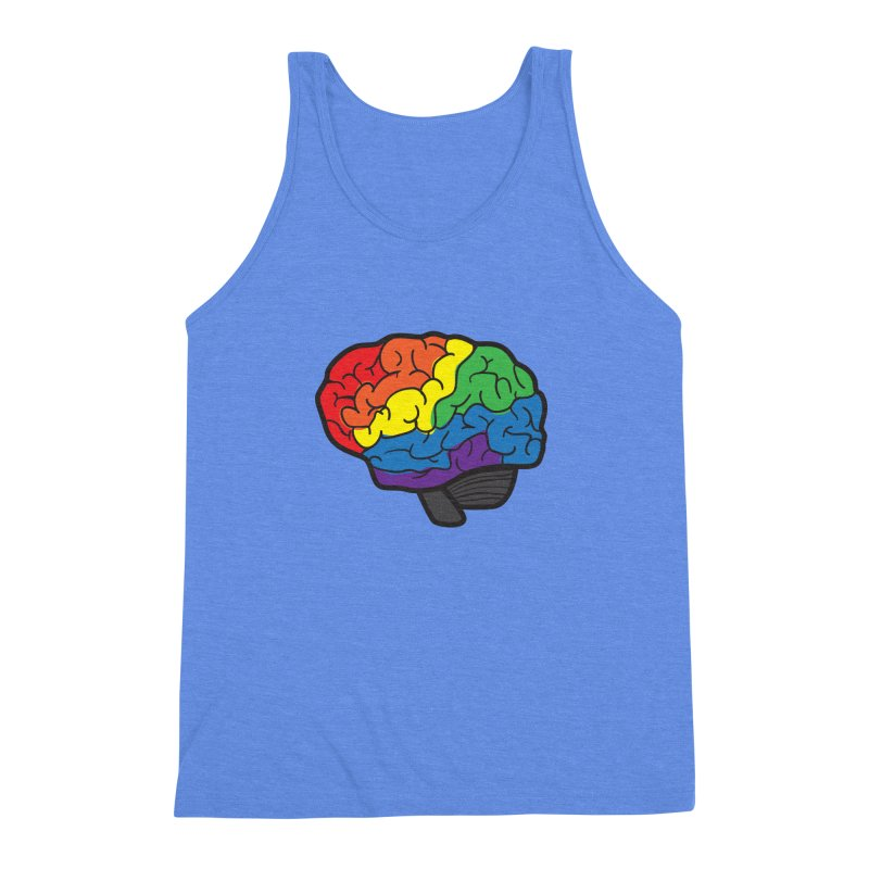 Colourful Brain Men's Triblend Tank by LLUMA Design