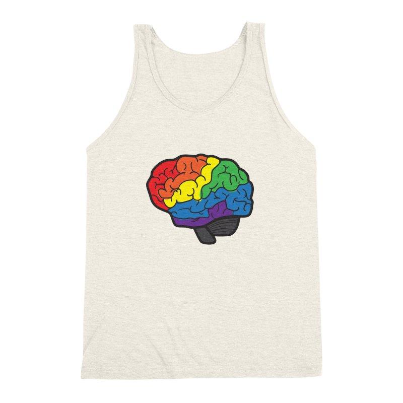 Colourful Brain Men's Triblend Tank by LLUMA Design