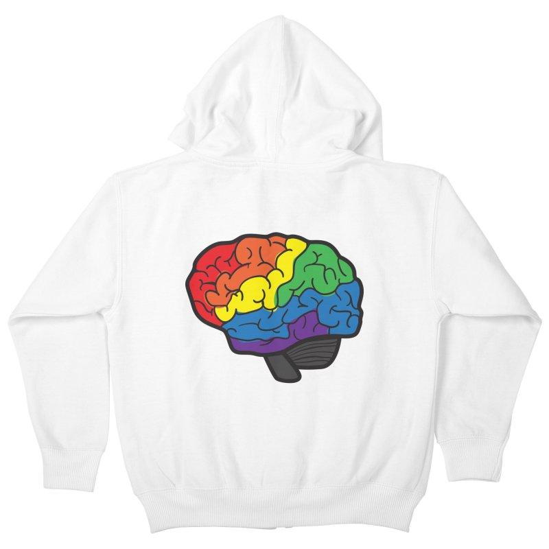 Colourful Brain Kids Zip-Up Hoody by LLUMA Design