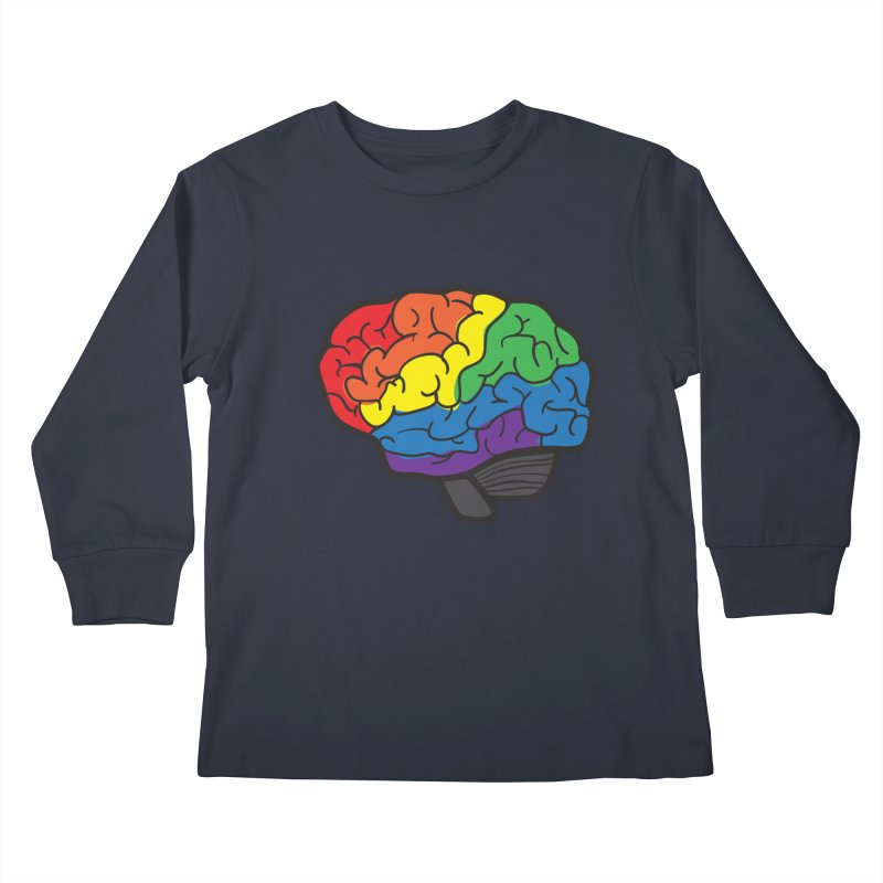 Colourful Brain Kids Longsleeve T-Shirt by LLUMA Design