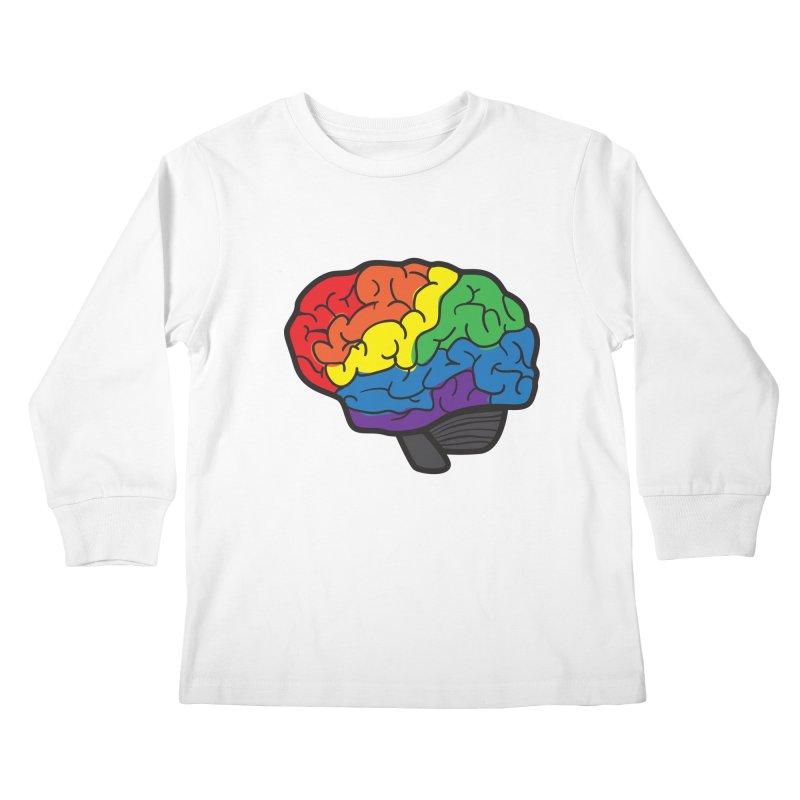 Colourful Brain Kids Longsleeve T-Shirt by LLUMA Design